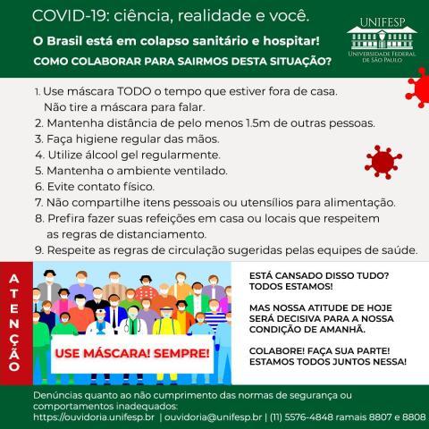 Segundo Cartaz de Conscientização contra a COVID -19